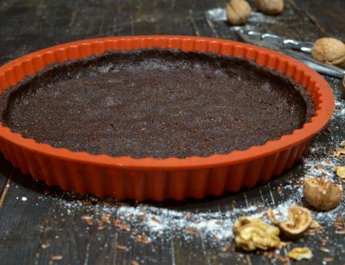 Frolla per crostata e biscotti senza burro ne farina ne zucchero con noci semi di lino eritritolo