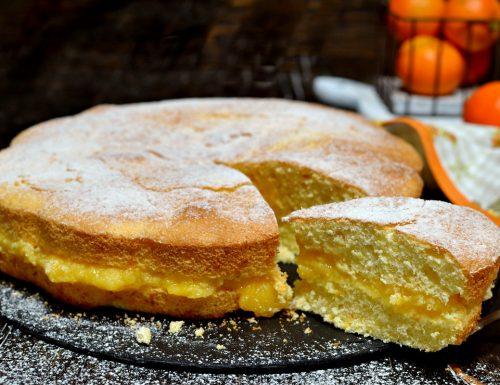 Torta light soffice con crema di clementine senza zucchero ne lattosio con acqua eritritolo e stevia
