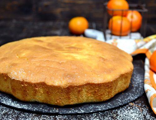 Torta morbidissima al succo di clementine e acqua senza zucchero e lattosio con eritritolo e stevia