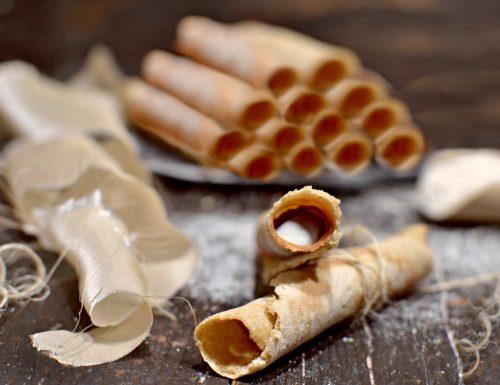 Sigari dolci ricetta in padella senza zucchero ne glutine ne lattosio