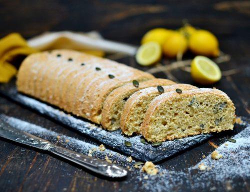 Plumcake al limone e tè verde per colazione senza zucchero ne lattosio dieta basso indice glicemico con bimby e senza