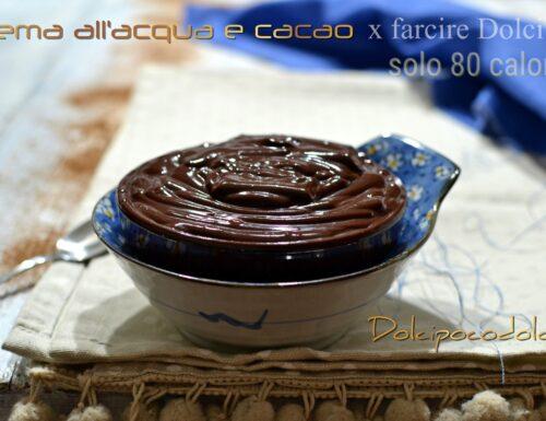Crema all'acqua e cacao light senza zucchero