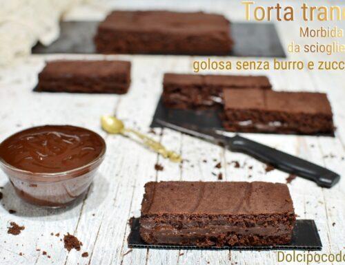 Torta trancio acqua e cacao morbidissima e golosa senza zucchero  burro e uova