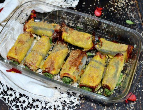 Involtini fit low carb e proteici con fesa di tacchino ricotta e spinaci