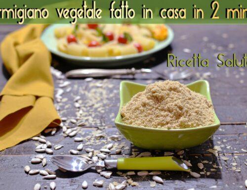 Parmigiano vegetale fatto in casa ricetta vegana senza lattosio ne glutine