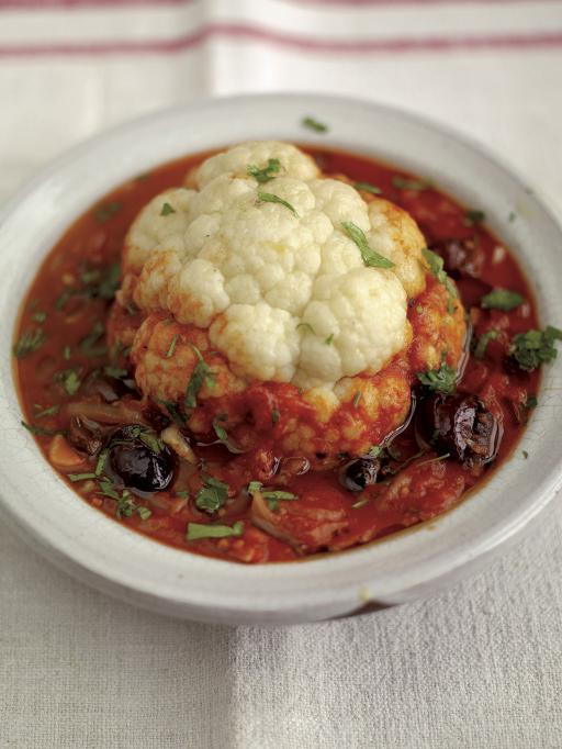 Cavolfiore con salsa e olive