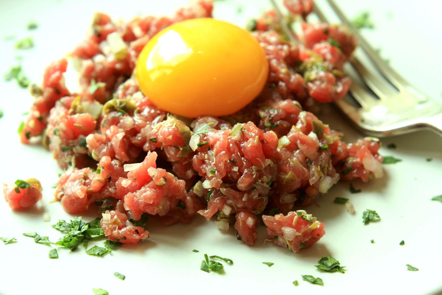 Бифштекс по-татарски рецепт