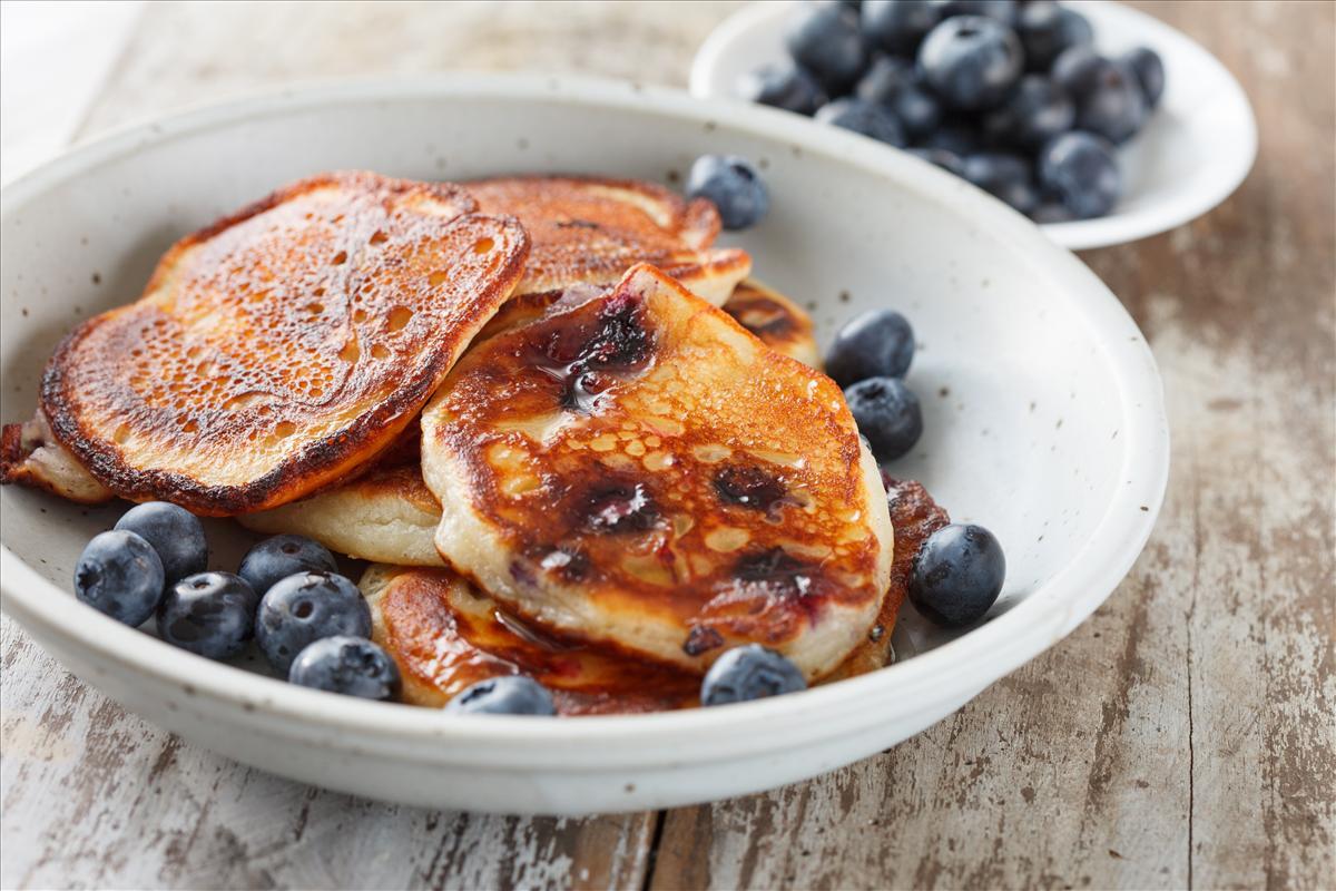 Pancakes ai mirtilli vegan