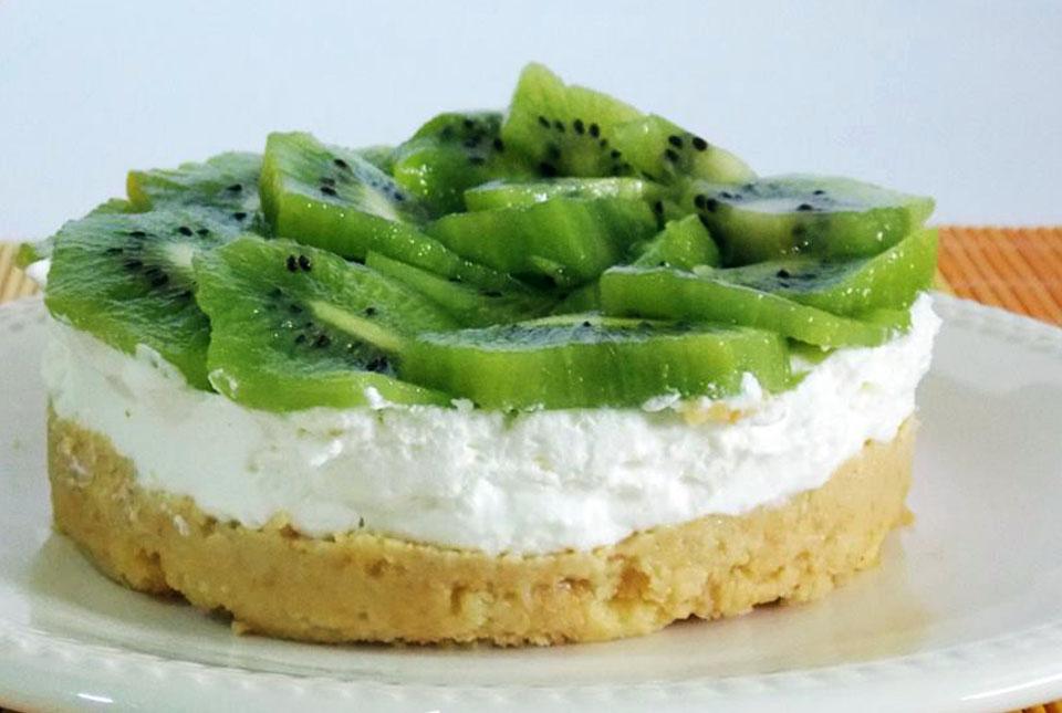 cheesecake di kiwi