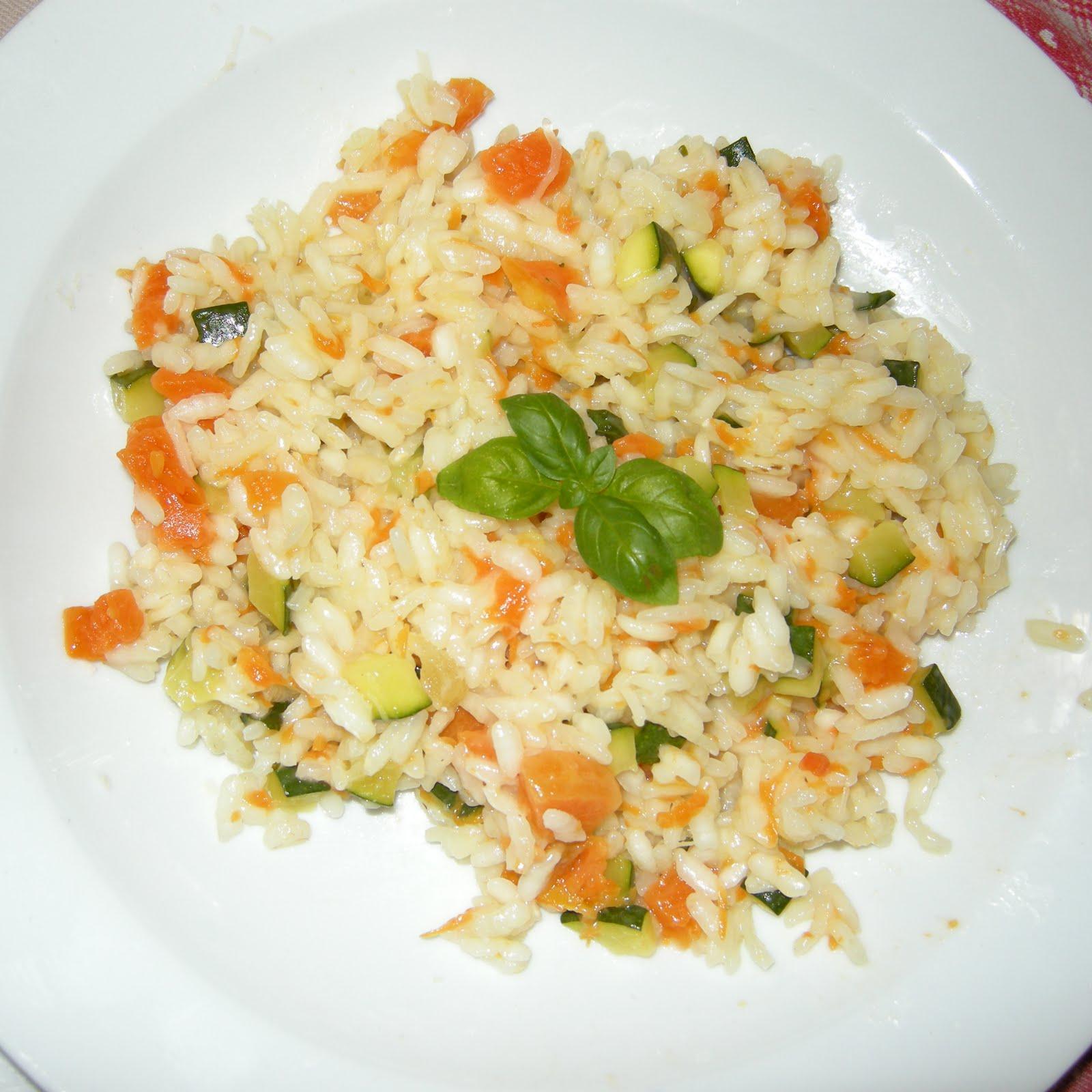 risotto con zucca e zucchine