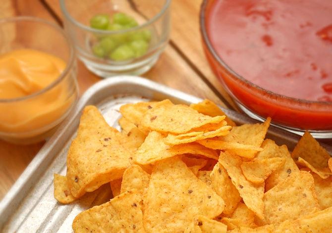 nachos con salse