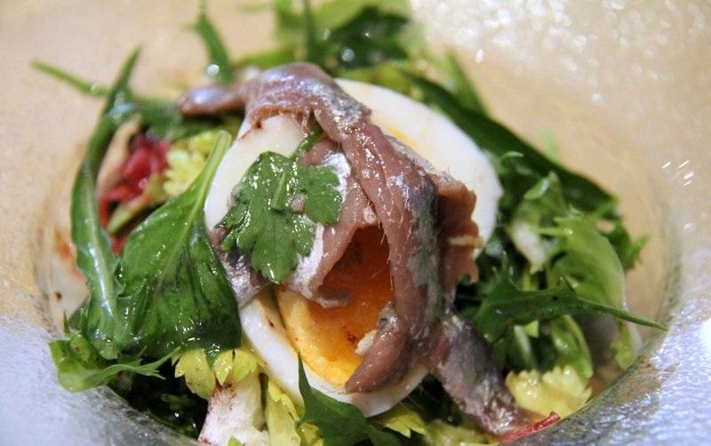insalata di uova e acciughe