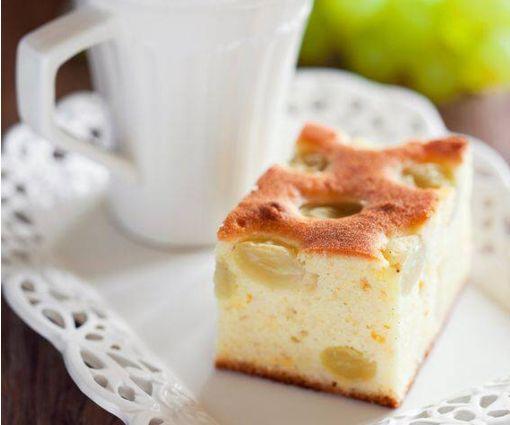 torta all'uva bianca