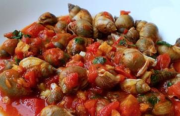 Lumache di mare al sugo piccante