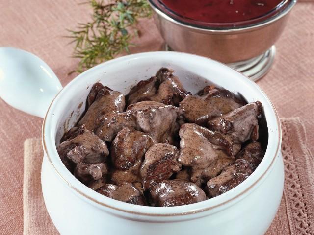 capriolo in salsa di mirtilli