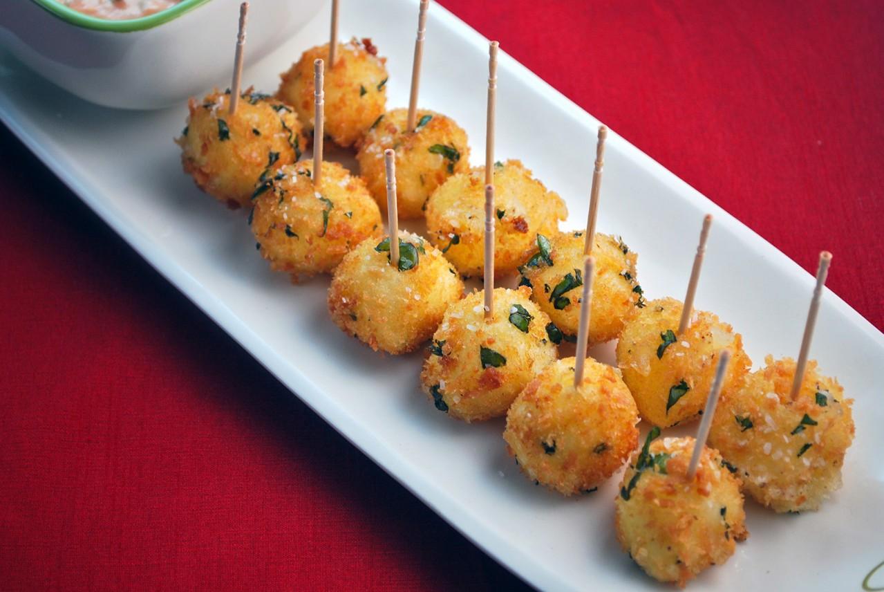 mozzarelline fritte al basilico