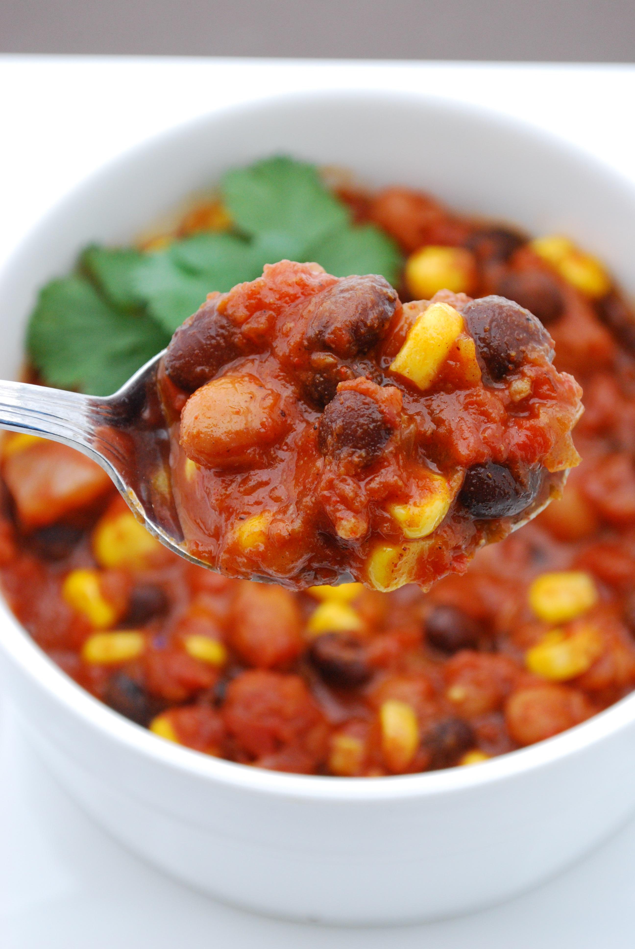 ricetta chili vegetariano