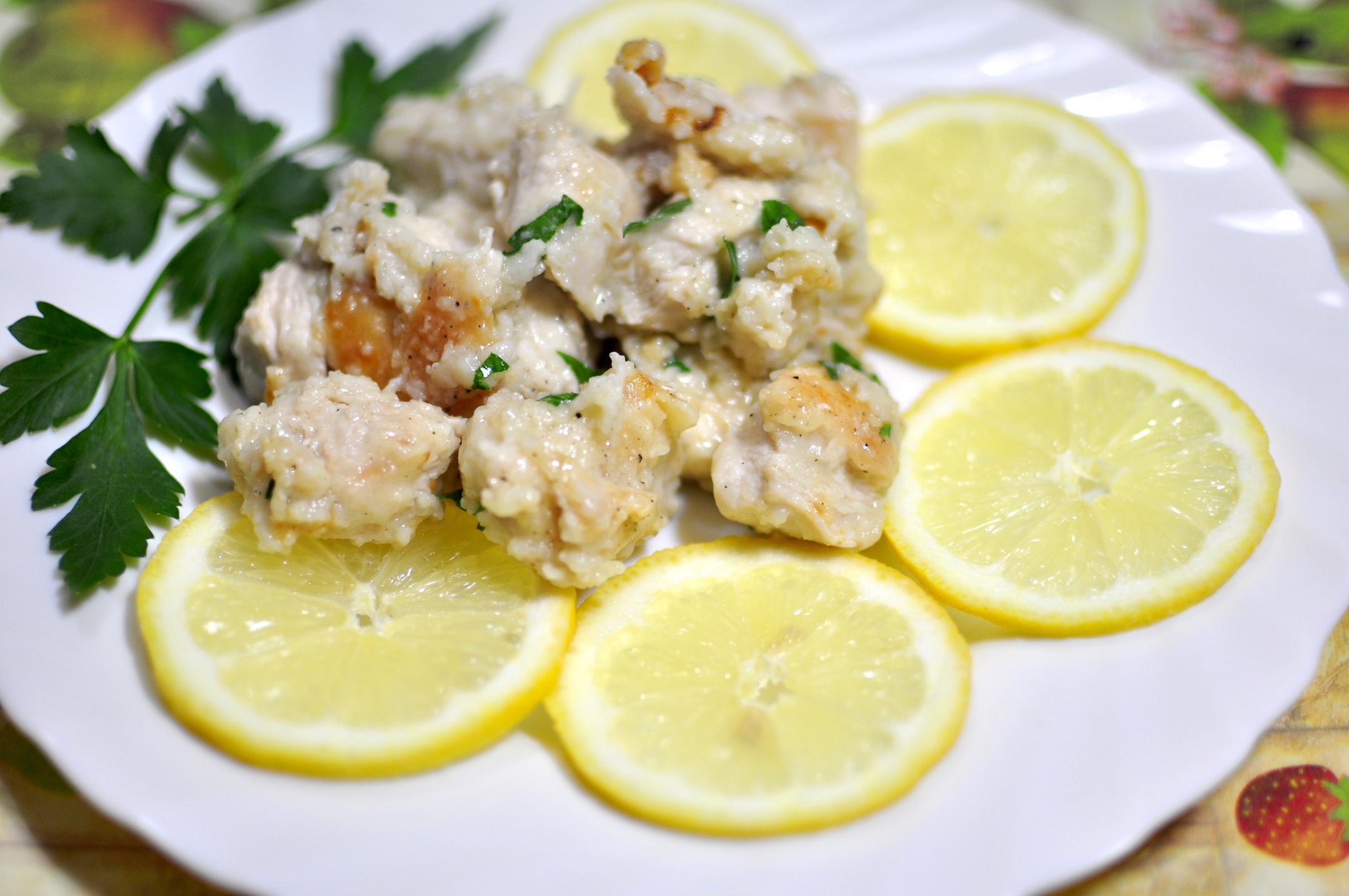 pollo cremoso al limone