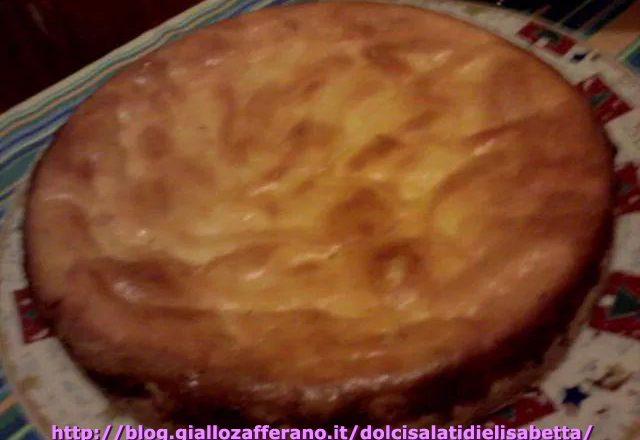 Torta di ricotta (che sembra una cheesecake cotta al forno)