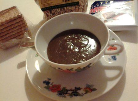 Cioccolata calda /Cioccolato caldo da sola/o o con biscotti/avena/riso soffiato/farro soffiato e panna montata