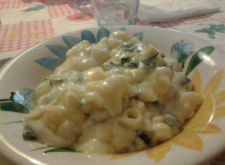Pasta, Zucchine e Fonduta di Grana o Parmigiano