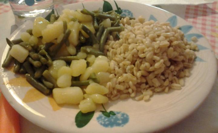 Farro, patate e fagiolini
