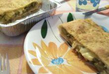 Torta salata home-made di zucchine all'orientale e scamorza