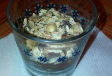 Dessert al Pan di Spagna al caffé, Nutella e Muesli al cucchiaio home-made