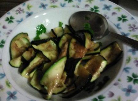 """Zucchine """"grigliate"""" e marinate home-made"""