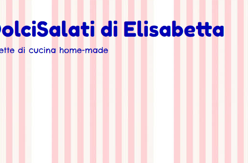 """Il Blog """"DolciSalati di Elisabetta"""" si trova ora anche sui Social Networks!"""