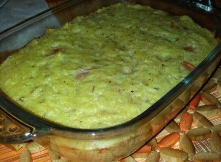 Tortino di patate, pomodori, cipolla ed origano home-made