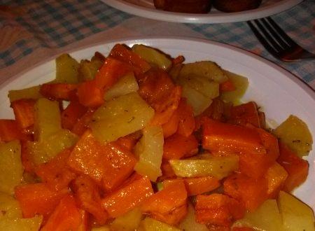 Patate e zucca al forno home-made