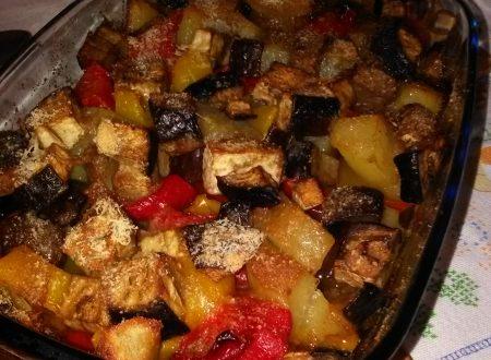 Melanzane, peperoni e patate al forno home-made