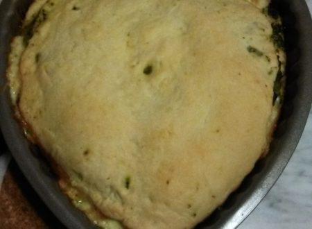 Pizza ripiena con le cime di rape stufate e formaggio Fontina home-made
