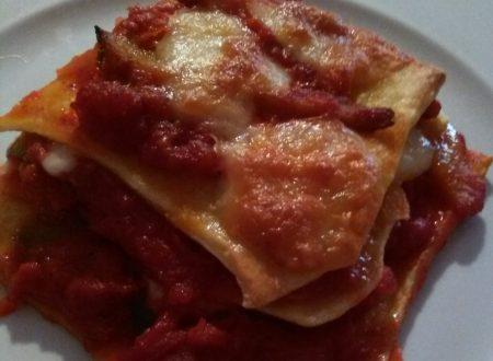 Sfoglie di lasagna e simil tagliatelle con sugo di pomodoro alle verdure home-made
