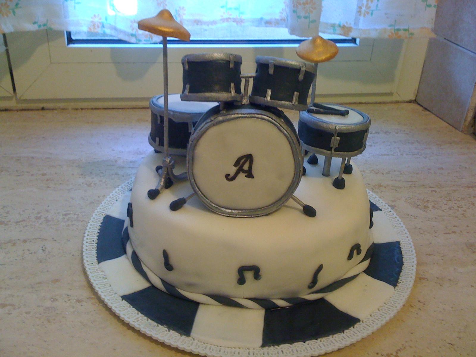 Cake Design Strumenti Musicali : Torta batteria musicale in pdz cake drums pasta di zucchero