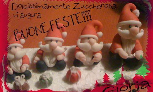 Buone feste da Dolcissimamente Zuccherosa e suoi Babbo Natale in pdz