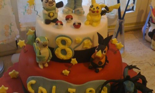 Torta Pokemon pdz Pikachu Ash e la sua banda