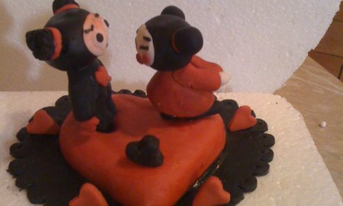 Pucca e Garu cake monoporzione per S. Valentino pdz