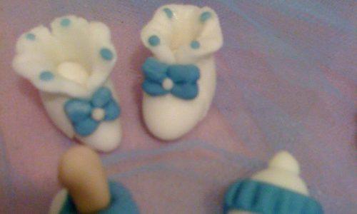 Confetti decorati in pasta di zucchero nascita battesimo pdz