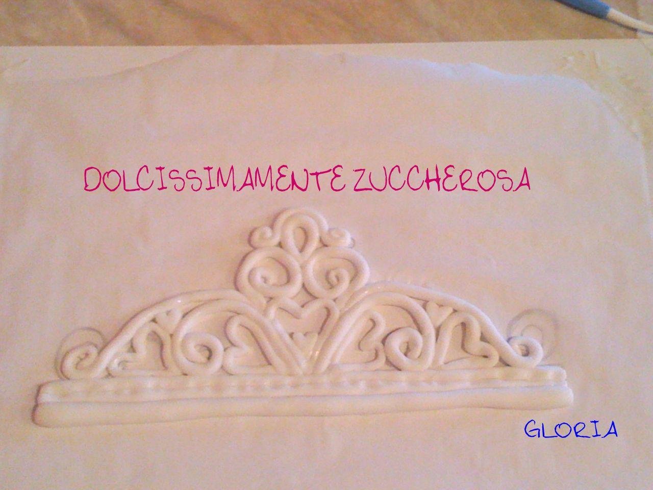 corona delle principesse tutorial tiara in pasta di zucchero pdz