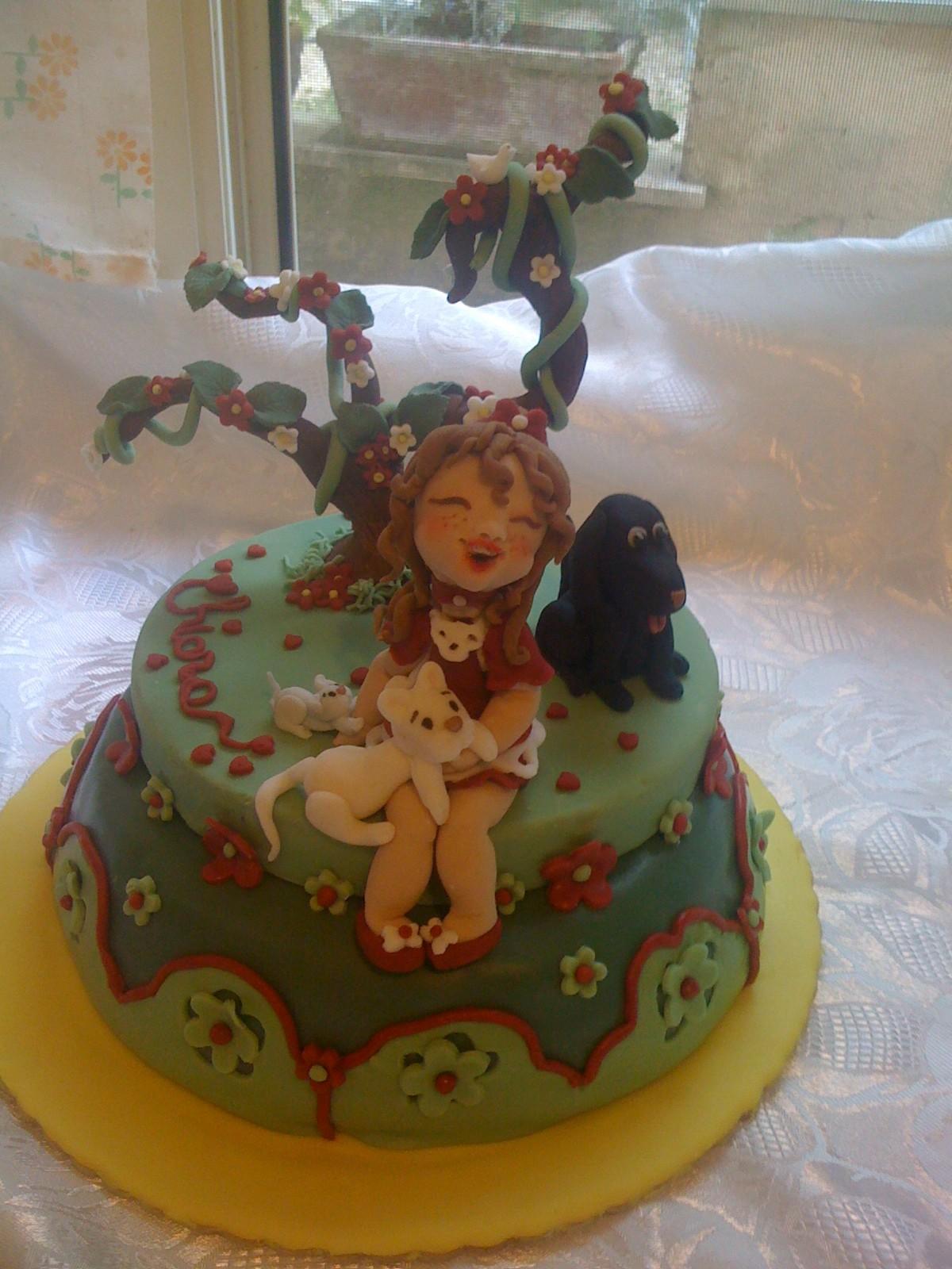 Torta bimba gatti e cane in pasta di zucchero con ricetta dolcissimamente zuccherosa gloria - Bagno per torte senza liquore ...