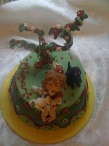 bimba gatti e cane in pasta di zucchero