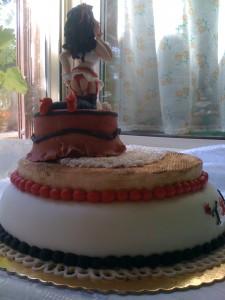 torta pin up in pasta di zucchero