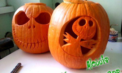Zucche intagliate per Halloween Jack Skeletron
