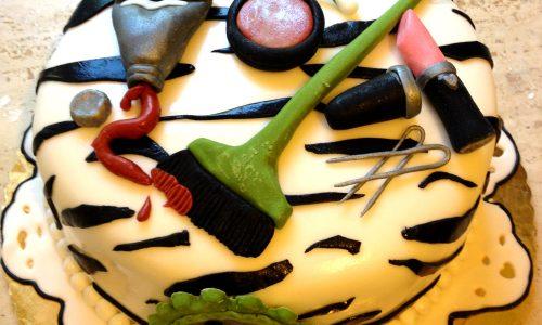 Torta parrucchiera pasta di zucchero pdz