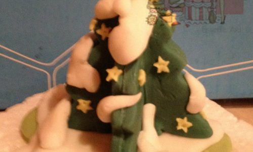 Tutorial albero di Natale in pasta di zucchero
