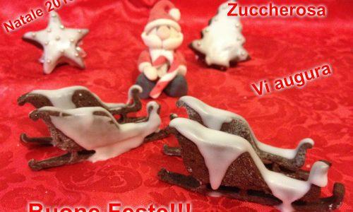 Biscotti al cioccolato decorati ricetta di Natale