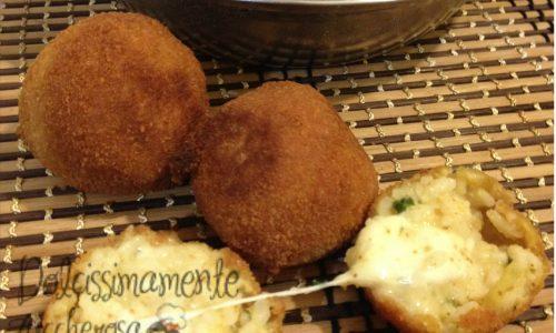 Mini bombe di riso speziate ricetta finger food