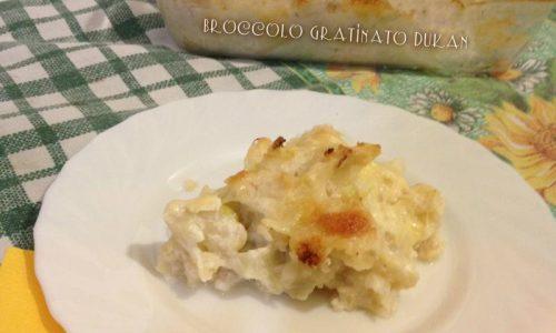 Broccolo gratinato dieta Dukan ricetta light